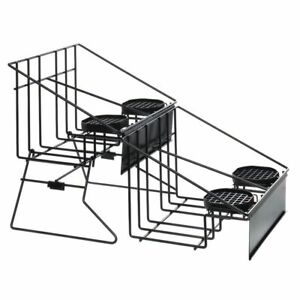 Hubert Rack For 4 Airpot Thermal Coffee Dispensers With Drip Trays Black Wire
