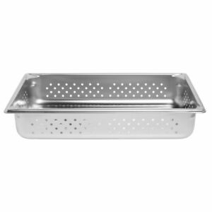 Vollrath 30043 Super Pan V Food Pan Stainless Full Size Perforated 4 Deep