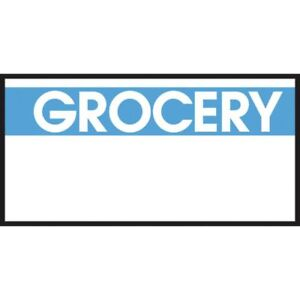 Monarch White Labels With Reversed Blue Print grocery For 1110 1 line Pricing