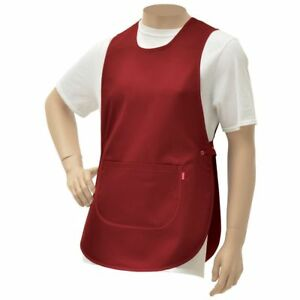Hubert Cobbler Apron Red Poly Cotton 30 l X 19 w