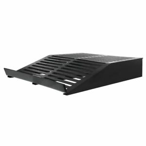 Display Riser For Deli Cases Slotted Black Plastic Flat 30 l X 24 w X 5 h