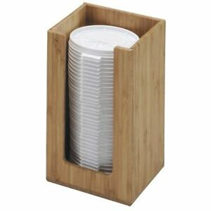 Cal mil Natural Bamboo Plastic Lid Holder 4 1 4 l X 4 1 4 w X 8 h