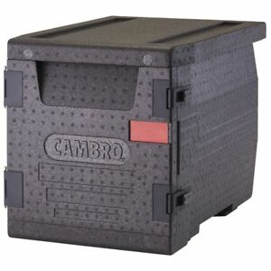 Cambro Cam Gobox Black Plastic Front Loading Pan Carrier 25 2 5 l X 17 3 10 w