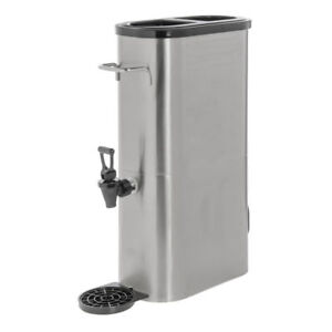 Hubert Iced Tea Dispenser 3 Gallon Slim Stainless Steel