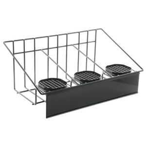Hubert Airpot Thermal Coffee Dispenser Rack With Drip Trays For Three Airpots