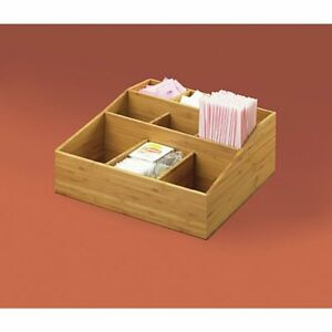 Cal mil 1714 60 Bamboo Collection 9 Compartment Condiment Holder 12 l X 12 w