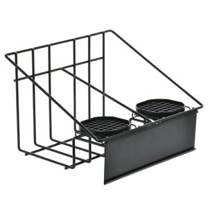 Hubert Wire Stand For 2 Airpot Thermal Coffee Dispensers With Drip Trays