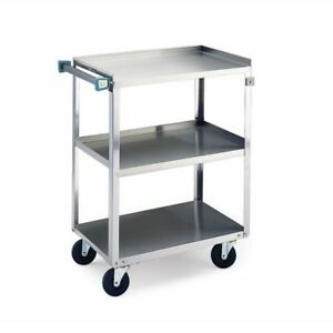 Lakeside 311 Utility Cart 3 Shelves Stainless Steel 300 Lb Capacity 16 1 4