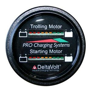 Dual Pro Battery Fuel Gauge Marine Dual Read Battery Monitor 12v System 15