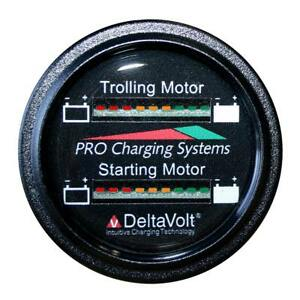 Dual Pro Battery Fuel Gauge Marine Dual Read Battery Monitor 12v 36v System