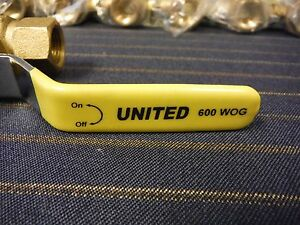United Forged Brass Ball Valve 3 8 Full Port 600 Wog Female Qty 10