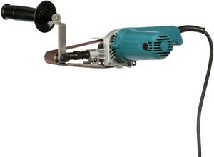 Makita Belt Sander 5 Amp 1-18 in. x 21 in. Corded 2-Hand Grips Lock-on Button
