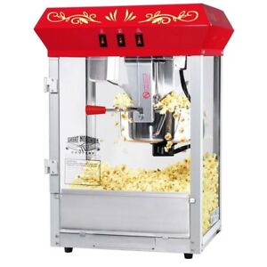 Popcorn Machine Stainless Steel Kettle Oil Pop Corn Popper Classic Style Red