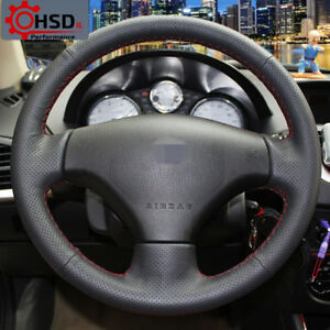 Sewing Leather Steering Wheel Cover For Peugeot 206 2007 2009 207 Citroen C2