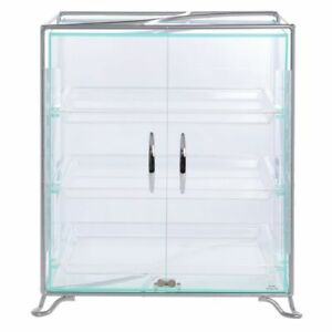 Cal mil 3 shelf Silver Metal And Acrylic Countertop Bakery Display Case 16 l X