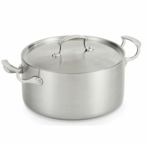 Vollrath 49441 Miramar Stainless Steel 7 Quart Casserole With Cover