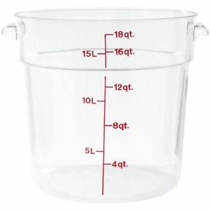 Cambro Rfscw18135 Camwear Polycarbonate Round Food Storage Container 18 Quart