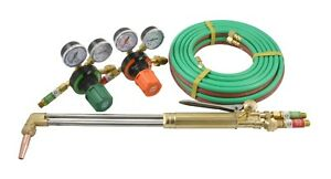 S a 21 Heavy Duty Cutting Torch And Regulators Kit 100 Hose Propane