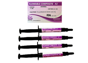 Flowable Light Cure Dental Composite 8 Syringe 5 Gr Each One A2 40 Gr Kit Usa