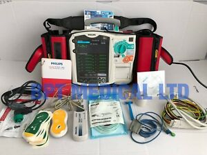 Philips Heartstart Mrx M3536a 12 Lead Pacing Spo2 Ac Power Module Case Cd More