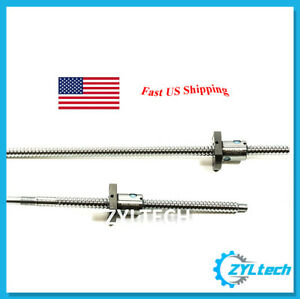 Zyltech Precision true C7 12mm 1204 Antibacklash Ball Screw W Ballnut 550mm