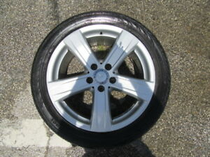 4 Used 18 Inch Mercedes benz E series Old Style Wheels With 4 Used Tires