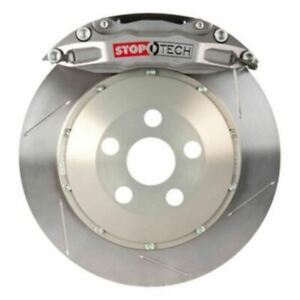 Stoptech Trophy Sport Big Brake Kit Silver Caliper Slotted 2 Piece Rotor Rear