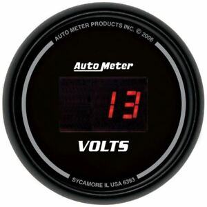 Autometer 6393 Gauge Voltmeter 2 1 16 18v Digital Black Dial W Red Led