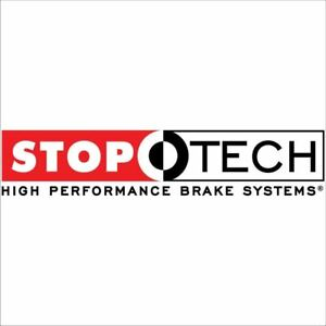 Stoptech Big Brake Kit Black Caliper Slotted Two piece Rotor Rear