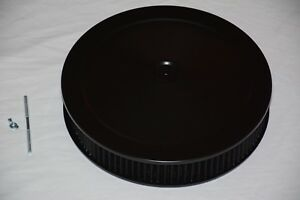 14 X 3 Black Round Washable Air Cleaner Filter Street Rod Muscle Car Chevy Ford