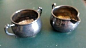 Pool Silver Co Hand Hammered Sugar And Cream Cups 2718