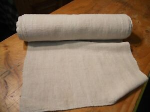 A Homespun Linen Hemp Flax Yardage 11 Yards X 21 Plain 10580