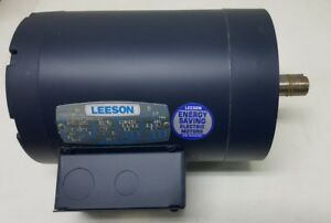 Leeson 2hp Electric Motor 143tc Frame 3450 Rpm 3 Phase 208 230 460 V