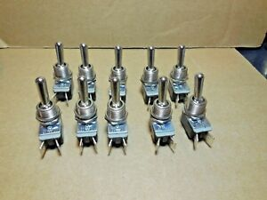10 Pcs Cole Hersee Spst Standard Handle On off Toggle Switch 1730r New