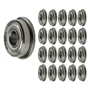 F608 zz Flange Ball Bearing Dual Sided Metal Shielded Deep Groove 100pcs