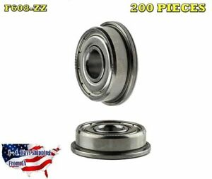 F608 zz Flange Ball Bearing Dual Sided Metal Shielded Deep Groove 200pcs