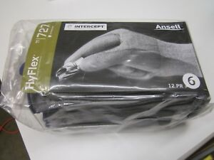 New Pack Of 12 Pair Ansell 11 727 Cut Resistant Work Gloves Level 2 Size 6