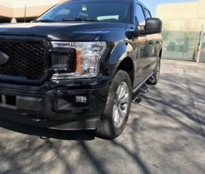 2015 2020 Ford F 150 Crew Cab H Style Blk Running Boards Nerf Bars Side Steps