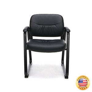Essentials Leather Executive Side Chair Guest reception Chair With Sled Base