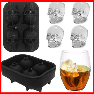 3D Ice Tray Silicone Icemaker chocolate Mold Skull  Round Sphere Whiskey Ball