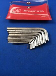 Snap On C10c 13pc Allen Sae Wrench Set Plus Clean Case U S A