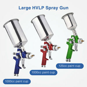 Suncoo 3pcs Hvlp Air Spray Guns Kit Auto Paint Car Primer Basecoat Clearcoat