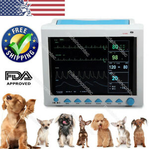 Vet Veterinary Vital Signs Patient Monitor Ecg nibp resp temp spo2 pr Contec Fda