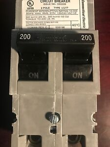 New Zinsco Qfp2200 Replacement Two Pole 200 Amp Main Series Connecticut Electric