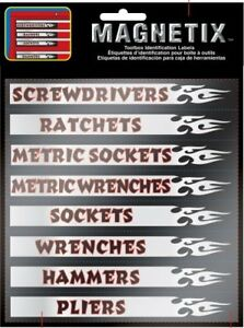 Magnetic Labels Organizer Label For Tool Box Chest Garage Drawer Mechanic Tools