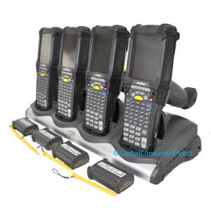 Lot Of 4x Motorola Mc9090g Mc9090 gk0hjefa6wr 1d 2d Wm5 Barcode Scanner cradle