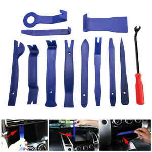 12pcs Car Interior Dash Radio Door Clip Panel Trim Open Removal Tools Kit New