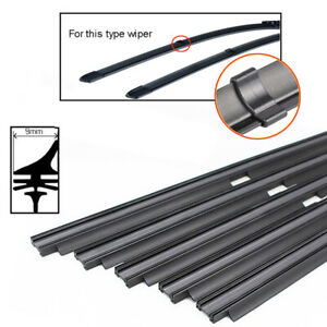 2pcs 26 8mm Car Auto Rubber Wiper Blade Refills For Wiper With Clips Cut Size
