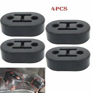 Black 4pc Universal Car Polyurethane Rubber 2 Hole 11 5mm Exhaust Muffler Hanger