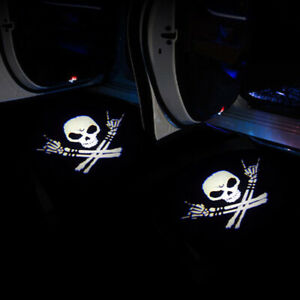 Usa Sell 2pcs Punisher Logo Wireless Car Led Door Projector Ghost Shadow Lights